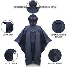 Fahrrad Regenponcho Navy Blau, Damen Herren, Regencape Brusttasche Sichtschutz