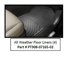 13-18 AVALON Floor Liner Mat Black Rubber All Weather Genuine Toyota OEM
