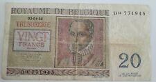Billets, Belgique, 20 Francs type De Lassus 1956 De Monte