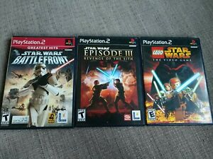 3 Star Wars Ps2 game lot (Sony PlayStation 2, 2005)