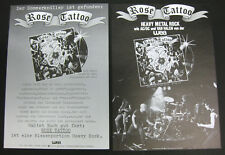 ROSE TATTOO s/t 1978 GERMAN Promo Information Flyer MINTY! Vanda & Young AC/DC