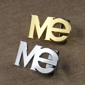 """Me Logo Belt Buckle Letters Numbers & Symbols Belt Pin Buckles Designer 1/2""""38mm"""