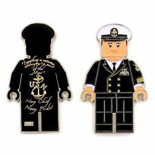 "US NAVY OFFICER CPO LEGO CHIEF MESS ""NAVY CHIEF NAVY PRIDE"" CHALLENGE COIN M-BLK"
