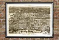 Vintage Philadelphia, PA Map 1872 - Historic Pennsylvania Art - Old Industrial