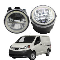 LED Fog Light + Angel Eye Rings Daytime Running Lights DRL Fit For Nissan NV200