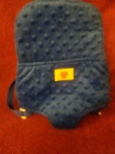 Build A Bear BAB Blue Velour Backpack Carrier Adjustable Straps