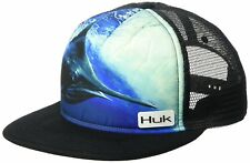 HUK Fishing KC Scott Northdrop Flat Bill Marlin Hat Cap - Color Black - NEW!