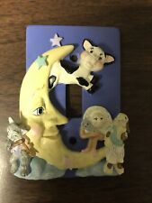 """Light Switch Cover: """"Hey Diddle Diddle Cow Jumped Over The Moon"""" Pre-Owned"""