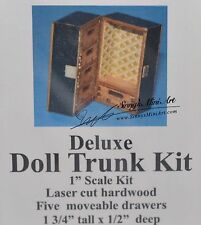 1:12 scale Dollhouse Miniature Deluxe Trunk Kit/ Miniature Trunk /DI TY302