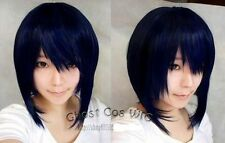 Dark blue mixed black anime role-playing wig cosplay wig blue-black short wig