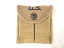 WWII M1 Carbine Khaki Color Magazine Stock Pouch Dated 1943 - Reproduction