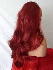 MEZZA Parrucca Fall Clip in parrucca Flick a Strati Lungo 3/4 Parrucca Fall Rosso Burg MIX Z14