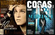 "2020 madonna 2 mexican mexico magazines ""cosas"" & ""vanidades icons""  FREE S/H"
