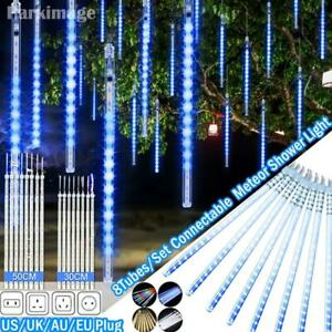 LED String Fairy Meteor Shower Lights Outdoor Garden Christmas Tree Decoration