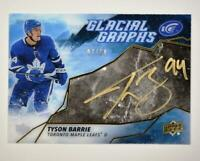 2019-20 ICE Glacial Graphs Black Parallel Auto #GG-TB Tyson Barrie /50