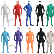 Kid Adult Open face out Lycra Spandex Zentai costume Bodysuit Catsuit Unitard