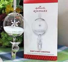 Hallmark Baby's First Christmas ornament 2013 Glass Rattle Snowflake