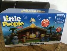 Fisher Price LITTLE PEOPLE DELUXE CHRISTMAS NATIVITY STORY Toy NEW +12 figures