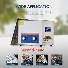 Secondhandd 240w Ultrasonic Cleanerheateramptimer 10l Ultrasonic Cleaning Machine