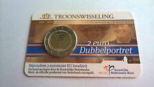 Nederland 2013 Coincard 2 Euro Dubbelportret BU / Stempelglanz