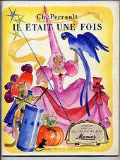 Il était une fois Ch.Perrault Mercier vignettes Menier 1953 TBE