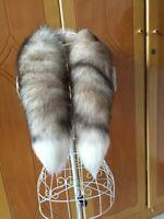 "Real Crystal Fox Fur Scarf Women Winter 90cm/35"" Long Tail Scarf Collar Scarf"