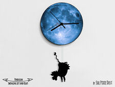 Cow Swinging on the moon - Pendulum Wall Clock