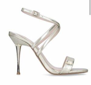 Kurt Geiger Carvela - Gold 'Goldi' Stiletto Heel Strappy Sandals Size 3 (36)