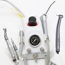 4 Hole Dental Portable Turbine Unit + Low Speed Kit + High Speed Handpiece