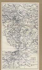 Battle Lines at Richmond & Petersburg Virginia Civil War 1899 Map Print