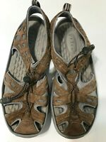 Privo By Clarks Womens Comfort Shoes Size 9M Brown Gray Slip On Draw String