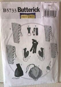 Renaissance Garb PATTERN Butterick 5733 Medieval LARP Greaves bag gloves pouch
