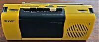 Vintage '80's Sharp Boombox AM/FM Radio Cassette Player  QT-5(Y) Yellow