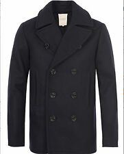 $298 Ralph Lauren Denim Supply Wool Blend Melton Naval Pea Coat Jacket-MEN-XXL