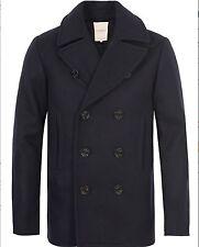 $298 Ralph Lauren Denim Supply Wool Blend Melton Naval Pea Coat Jacket-MEN-L