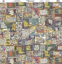 Reminisce - Postcard Paradise Scrapbooking Paper - 12x12 - Us States