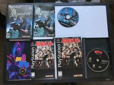 Resident Evil (Sony PlayStation 1, 1996) Long Box PS1 Complete with 4 for PS2