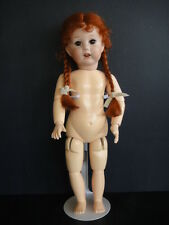 BLEUETTE Reproduction porcelain doll.SFBJ251 Brown eyes-G.BRAVOT France-27cm