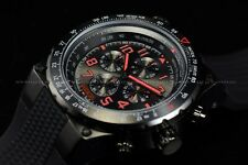 Invicta Men 50mm Aviator Grey Black with Red Markers Chronograph Silicone Watch