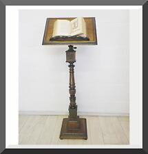 ANTICO LEGGIO A COLONNA - 1890 noce RESTAURATO complemento x scrivania, libreria