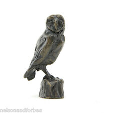 Solid Bronze Owl Sculpture Barn Owl Maquette by Sue Maclaurin