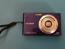 Sony DSC-W350 14.1MP 720P Purple Digital Camera Point & Shoot + 8GB Memory Card