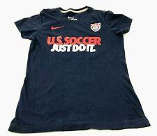 Nike Team USA Soccer Shirt Size Medium Slim Fit Blue Short Sleeve Graphic Tee