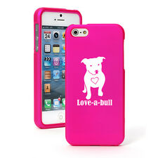 For Apple iPhone 4S 5 5S 5c 6 6s Plus Rubber Hard Case Love-a-bull Pitbull Love