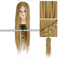 "26"" Hairdressing Training Head Mannequin Model 30% Human Hair with Clamp Holder"