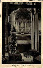 Freiberg Sachsen s/w Postkarte 1939 gelaufen Innenansicht Freiberger Dom Orgel