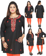 UK STOCK - PLUS SIZES Women Indian Kurti Tunic Kurta Top Shirt Dress EPLUS114A