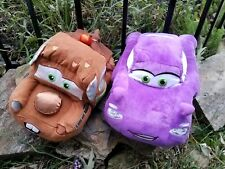 2 Disney Store Mc Holley Shiftwell CARS Purple plush Towmater Tow Truck Holly