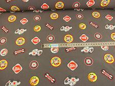 Jersey Stoff Baumwolle Kinderstoff grau Autoservice ab 50 cm: 995