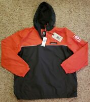 NWT Timberland Pullover Windbreaker Jacket Black/Orange Men's Size L - MSRP: $98